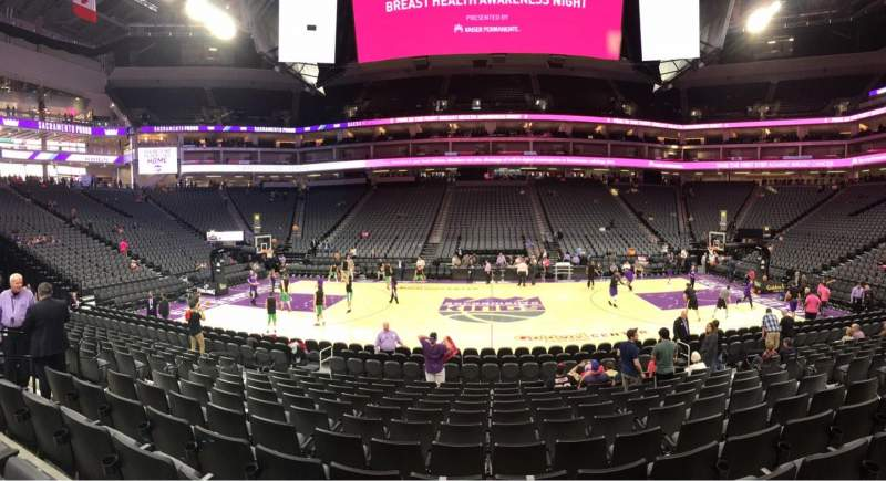 Seating view for Golden 1 Center Section 120 Row A Seat 11