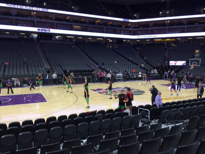 Seating view for Golden 1 Center Section 121 Row Cc Seat 9