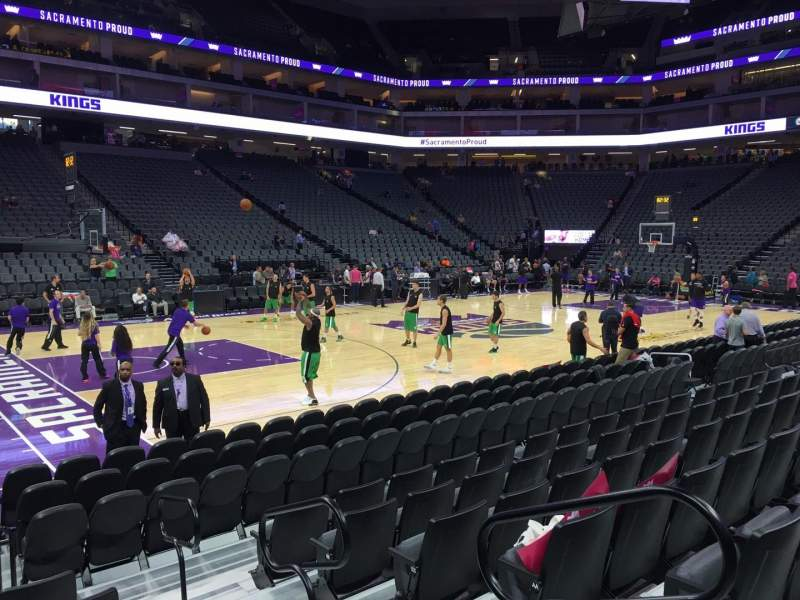 Seating view for Golden 1 Center Section 122 Row Cc Seat 1