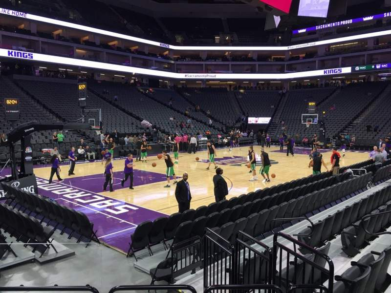 Seating view for Golden 1 Center Section 123 Row Aa Seat 2