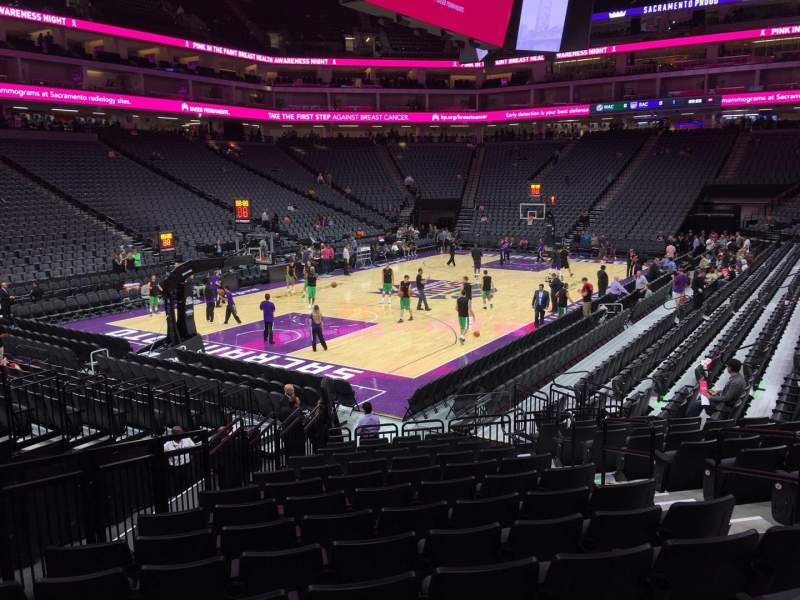 Seating view for Golden 1 Center Section 124 Row E Seat 5