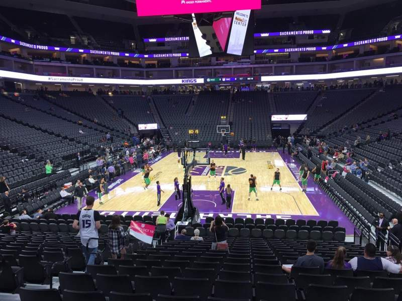 Seating view for Golden 1 Center Section 126 Row H Seat 8