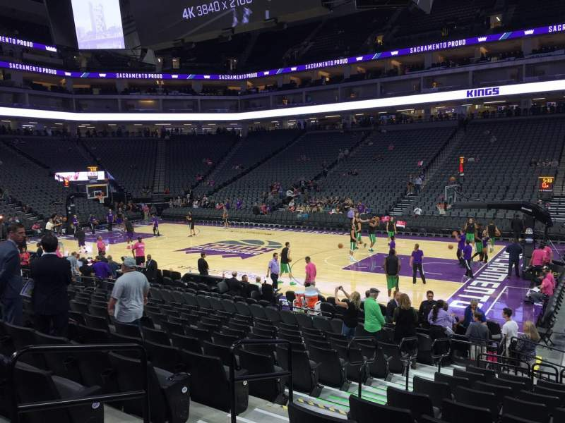 Seating view for Golden 1 Center Section 105 Row B Seat 5