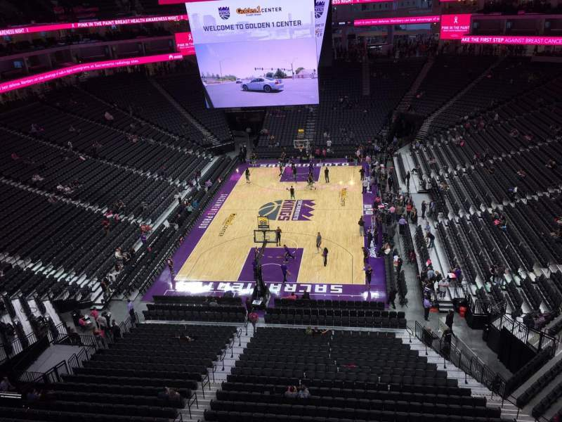 Seating view for Golden 1 Center Section 211 Row A Seat 18