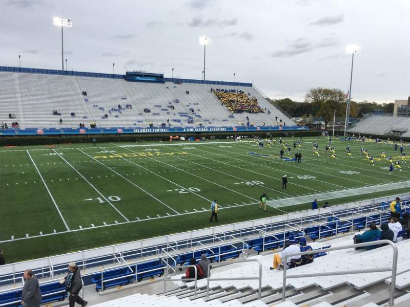 Seating view for Delaware Stadium Section G Row P Seat 8