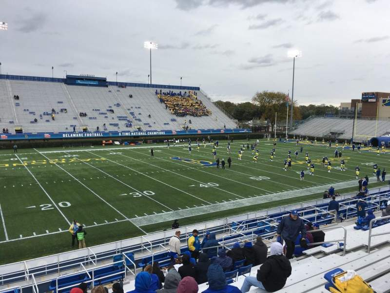 Seating view for Delaware Stadium Section F Row P Seat 17