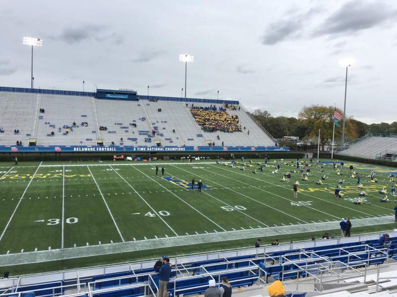 Seating view for Delaware Stadium Section E Row P Seat 18
