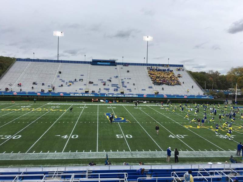 Seating view for Delaware Stadium Section D Row R Seat 23