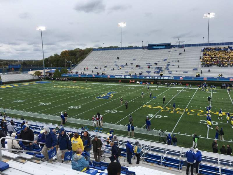 Seating view for Delaware Stadium Section B Row R Seat 20