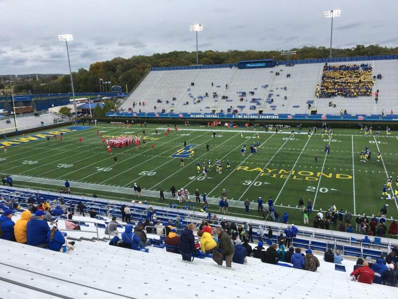 Seating view for Delaware Stadium Section B Row Jj Seat 12