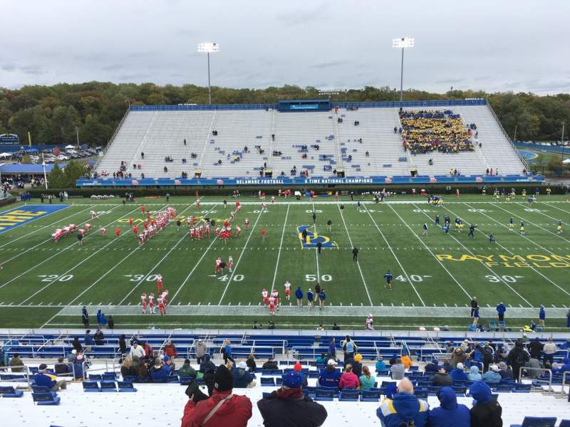 Delaware Stadium, section: D, row: Kk, seat: 14