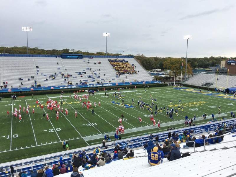 Delaware Stadium, section: F, row: Ll, seat: 20