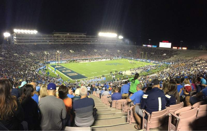 Seating view for Rose Bowl Section 1-L Row 67 Seat 1