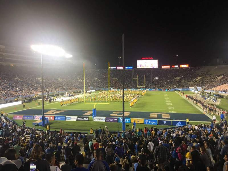 Seating view for Rose Bowl Section 26-L Row 29 Seat 43