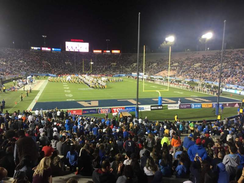 Seating view for Rose Bowl Section 24-H Row 29 Seat 134
