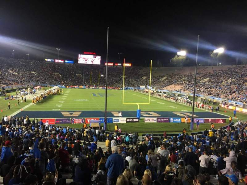 Seating view for Rose Bowl Section 25-H Row 29 Seat 145