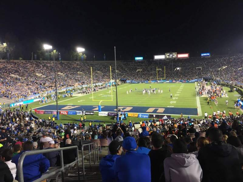Seating view for Rose Bowl Section 13-L Row 44 Seat 23