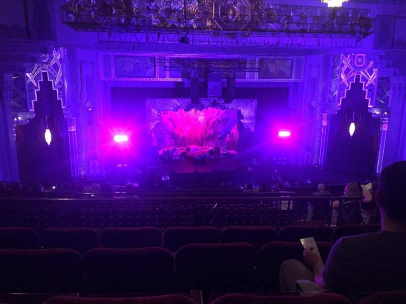 Seating view for Hollywood Pantages Theatre Section Mezzanine LC Row N Seat 306