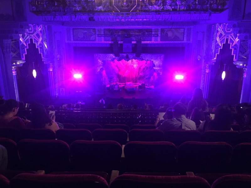Seating view for Pantages Theatre (Hollywood) Section Mezzanine C Row Q Seat 104