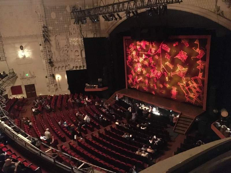 Seating view for Orpheum Theatre (San Francisco) Section Balcony R Row Aa Seat 2