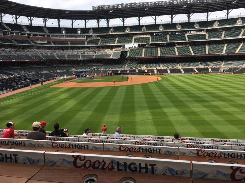 Seating view for Truist Park Section 157 Row 5 Seat 11