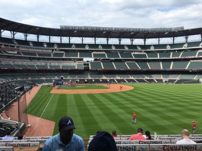 Seating view for SunTrust Park Section 159 Row 5 Seat 16