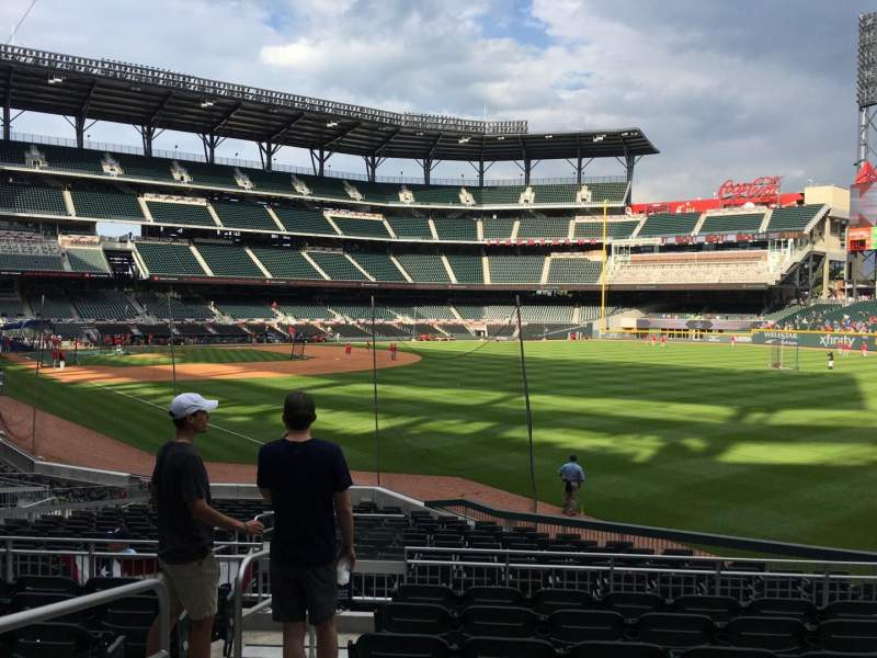 Seating view for Truist Park Section 109 Row 1 Seat 2