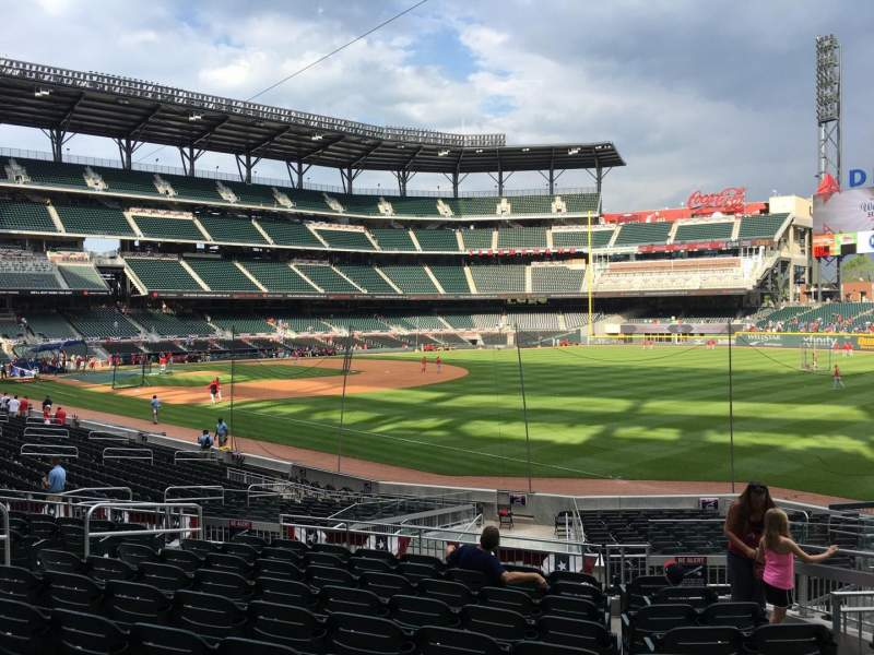 Seating view for Truist Park Section 111 Row 10 Seat 8