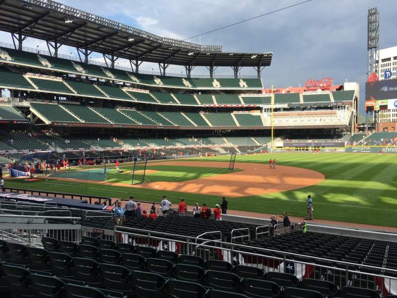 Seating view for Truist Park Section 114 Row 7 Seat 11