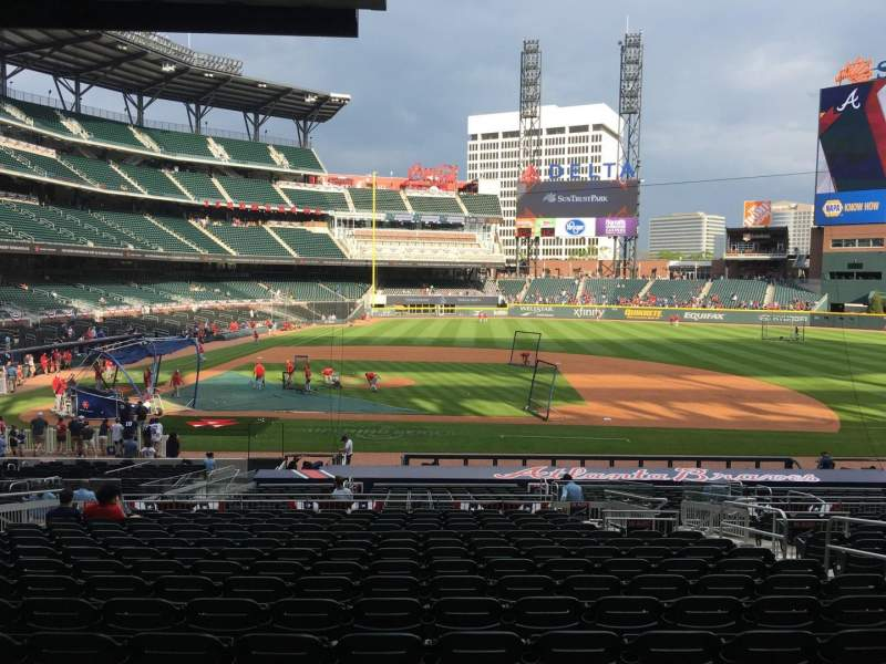 Seating view for Truist Park Section 120 Row 18 Seat 8