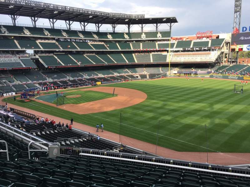 Seating view for Truist Park Section 213 Row 10 Seat 11