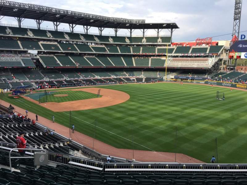 Seating view for Truist Park Section 212 Row 10 Seat 13