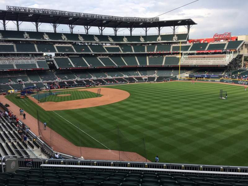 Seating view for Truist Park Section 211 Row 10 Seat 7