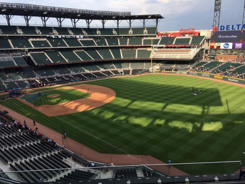 Seating view for Truist Park Section 312 Row 6 Seat 7