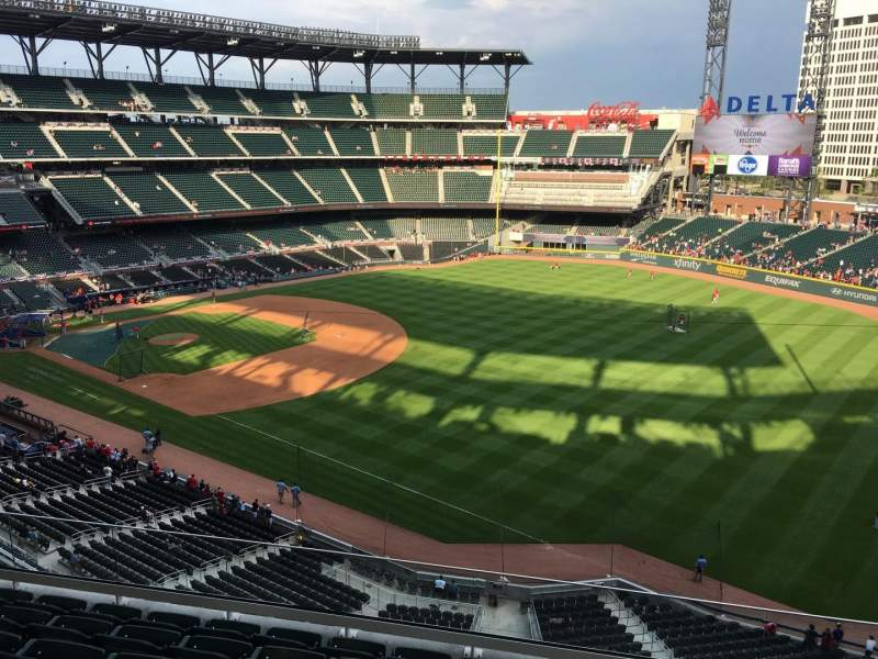 Seating view for Truist Park Section 313 Row 7 Seat 10