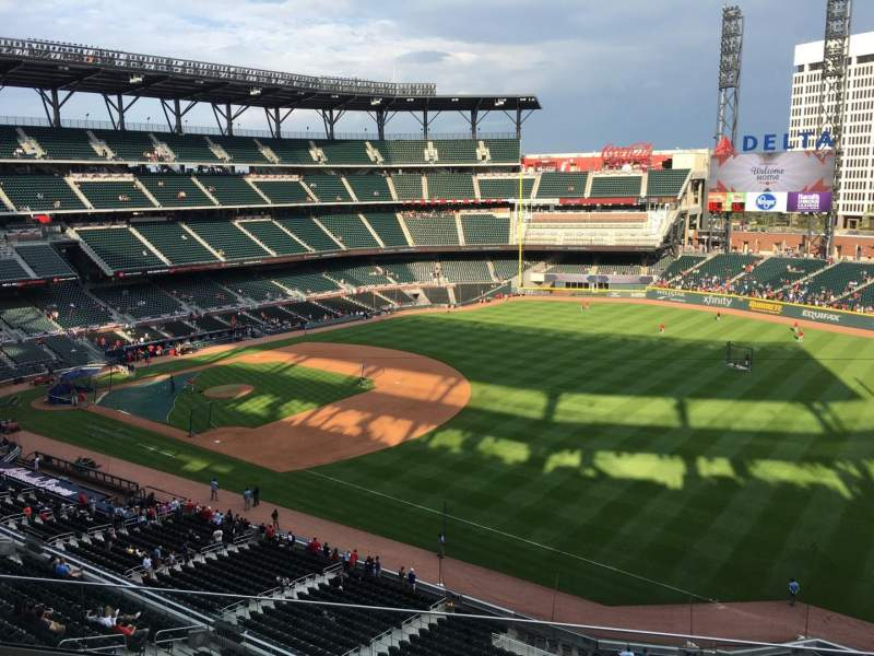 Seating view for Truist Park Section 314 Row 6 Seat 7