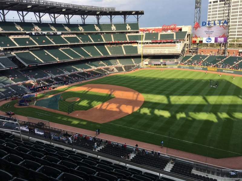 Seating view for Truist Park Section 315 Row 7 Seat 13