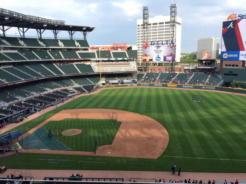 Seating view for Truist Park Section 318 Row 4 Seat 8