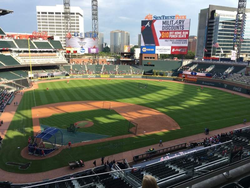 Seating view for Truist Park Section 323 Row 4 Seat 9