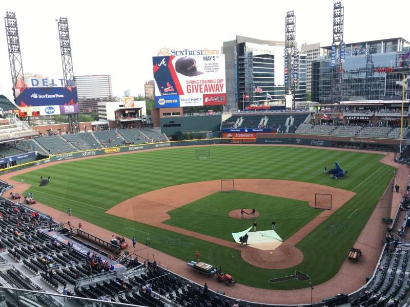 Seating view for Truist Park Section 327 Row 4 Seat 14