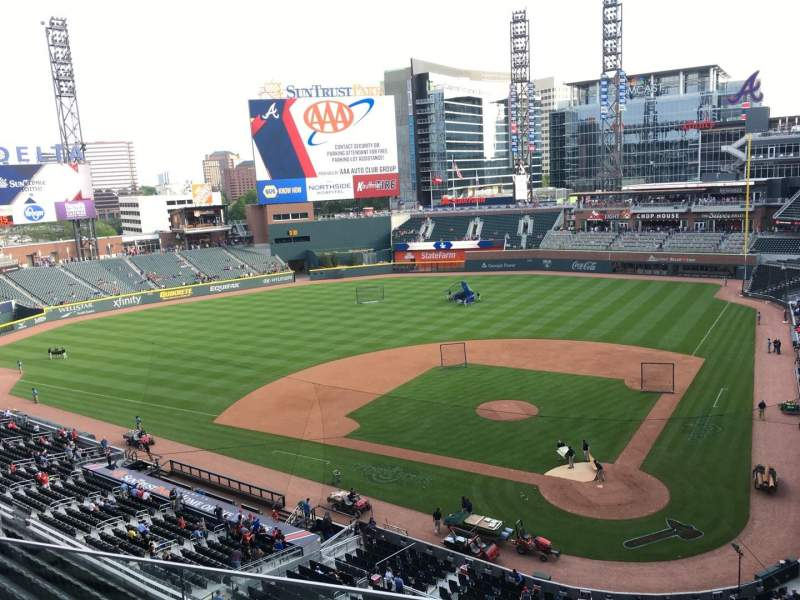 Seating view for Truist Park Section 328 Row 3 Seat 11