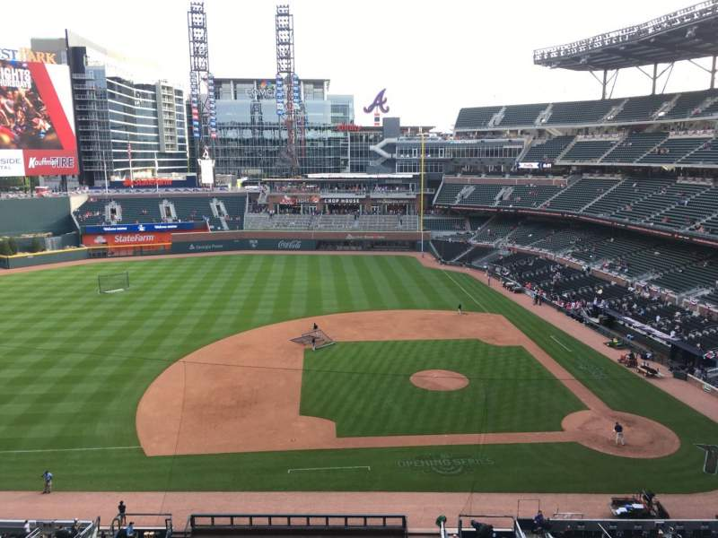 Seating view for Truist Park Section 331 Row 3 Seat 16