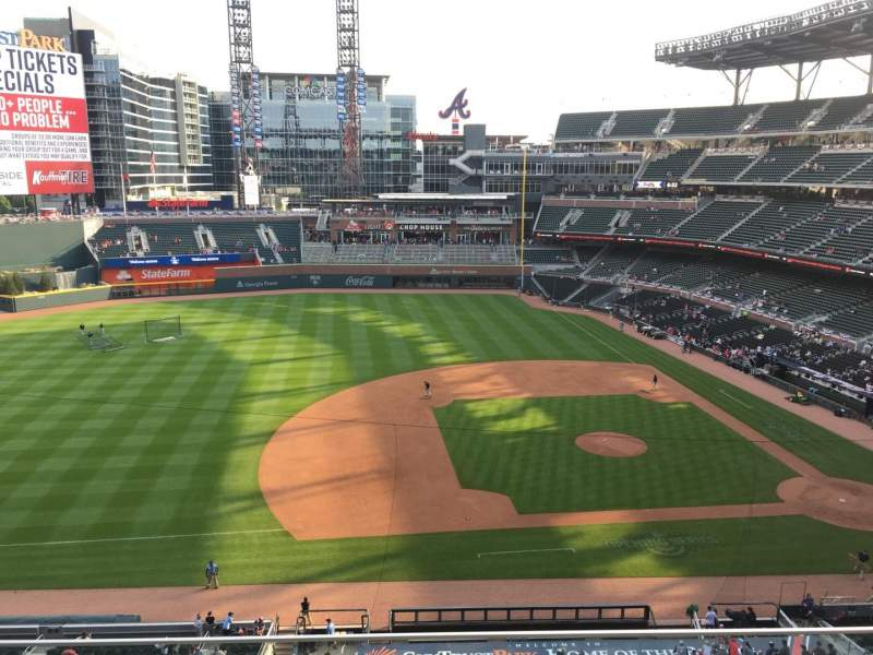 Seating view for Truist Park Section 333 Row 3 Seat 13