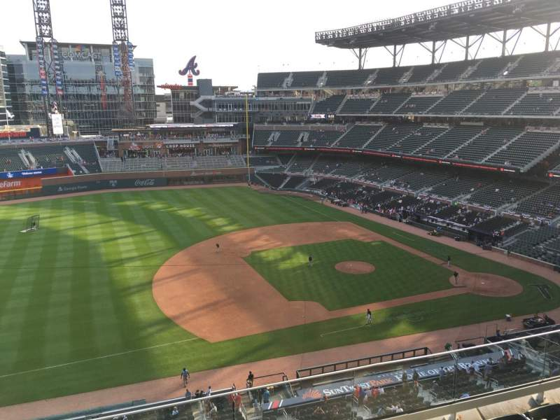Seating view for Truist Park Section 335 Row 5 Seat 14