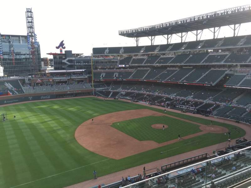 Seating view for Truist Park Section 337 Row 3 Seat 15