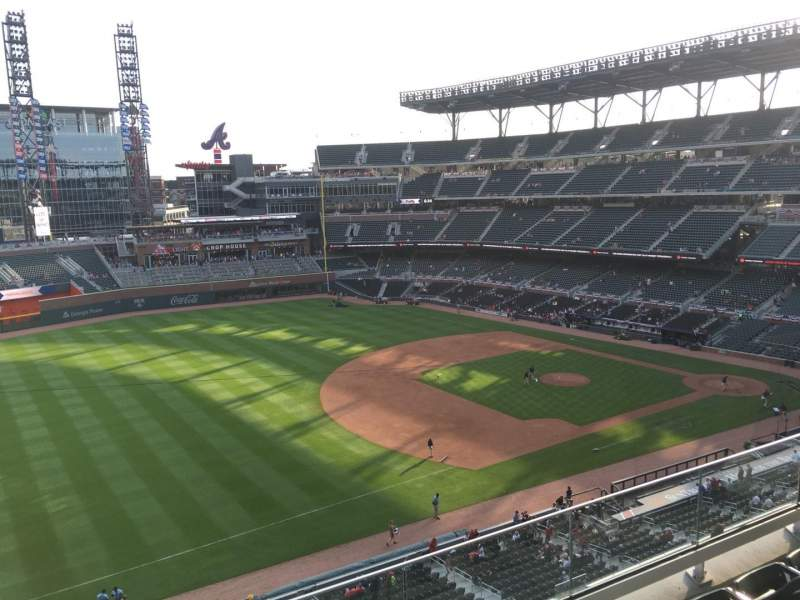 Seating view for Truist Park Section 339 Row 4 Seat 11