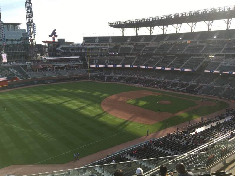 Seating view for Truist Park Section 340 Row 7 Seat 11