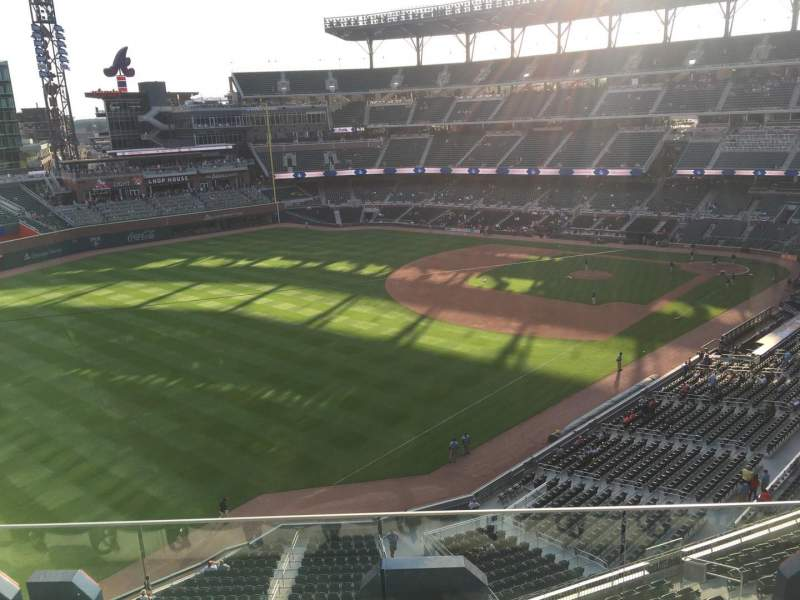 Seating view for Truist Park Section 342 Row 4 Seat 8