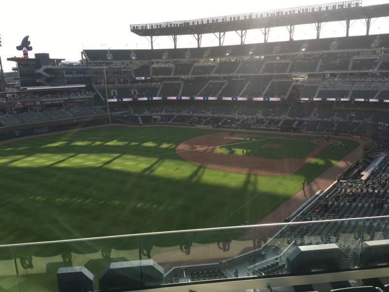 Seating view for Truist Park Section 343 Row 4 Seat 12