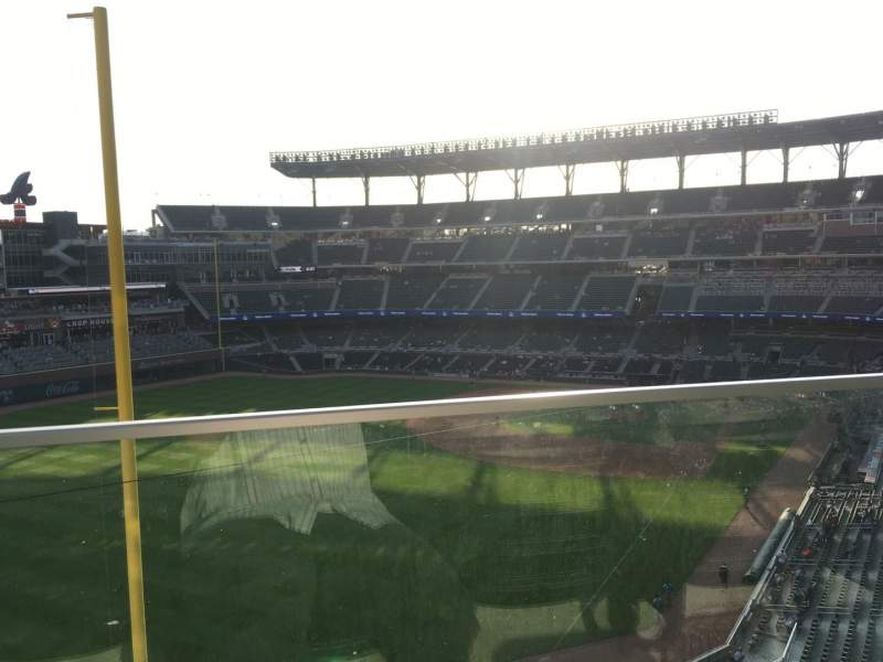 Seating view for Truist Park Section 344 Row 1 Seat 7